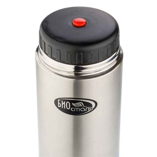 Термос для еды Biostal (1 литр) в чехле, стальной*