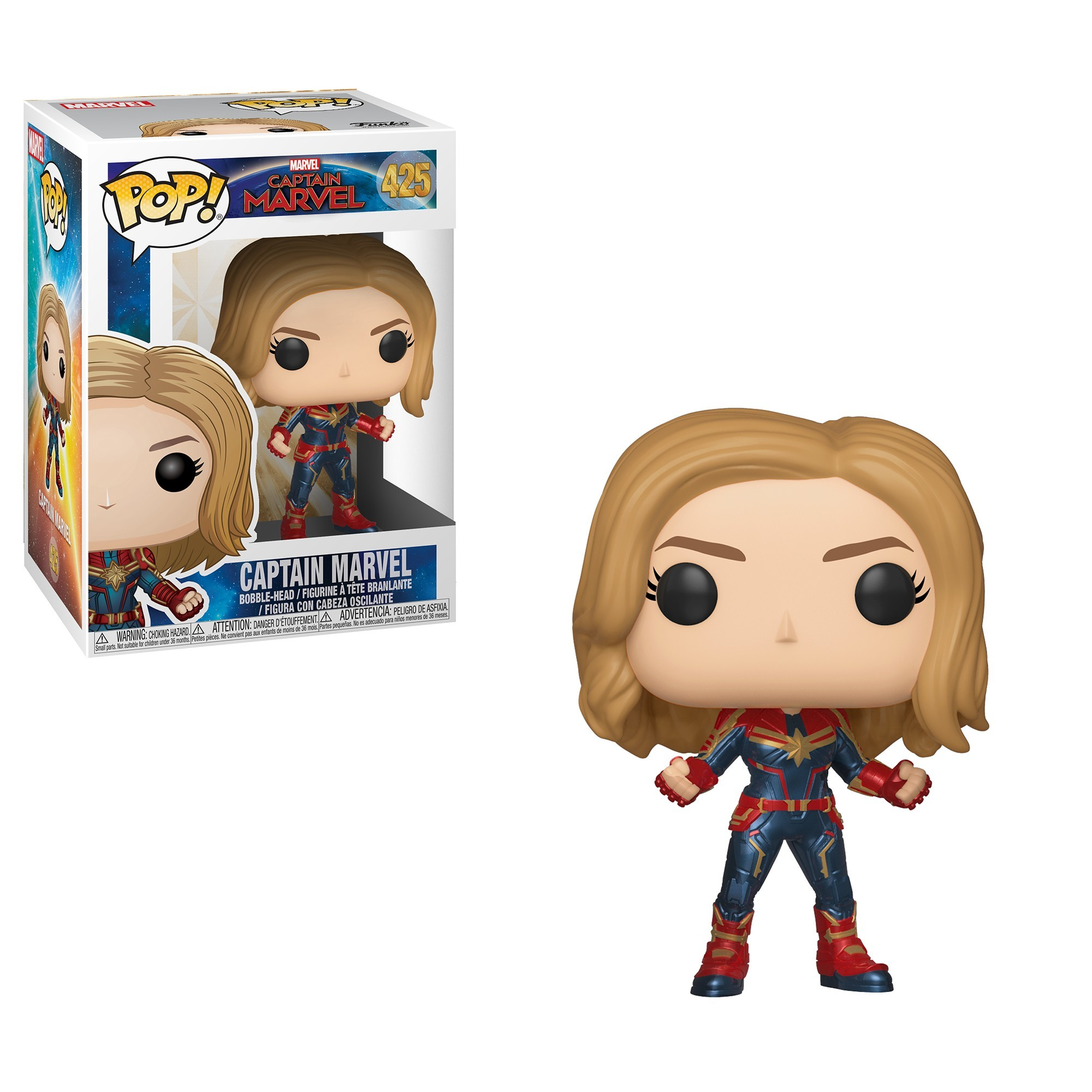 Фигурка Funko POP! Bobble: Marvel: Captain Marvel: Captain Marvel 36341