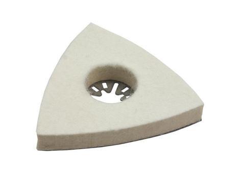 Насадка для МФИ ПРАКТИКА полировальная дельта, войлок, 80 мм (240-393)