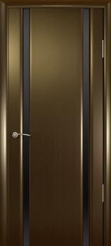 Дверь Океан Шторм-2, стекло тонированное, цвет венге, остекленная