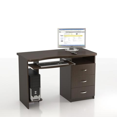 Компьютерный стол ЛАСТОЧКА КС-10М (левый) венге