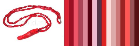 с чем носить красный коралл - примерная цветовая палитра для одежды