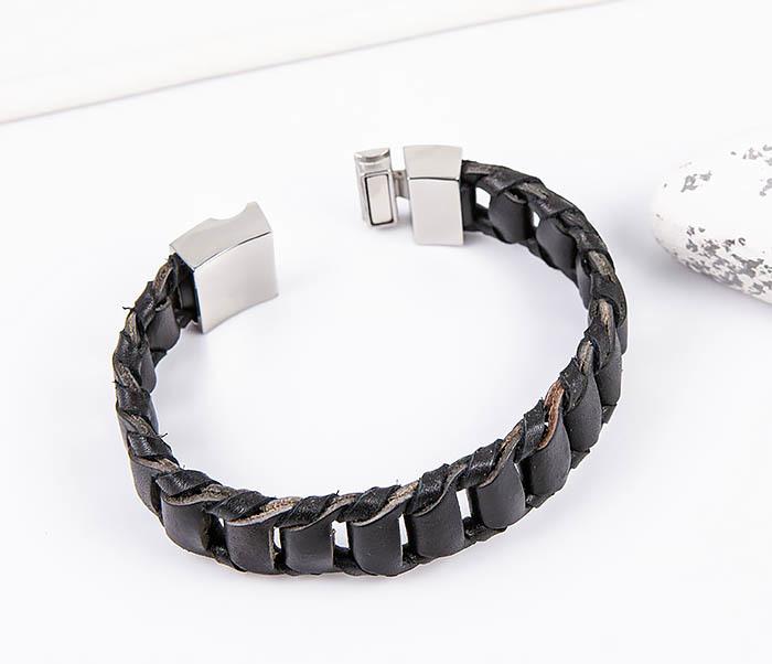 BL780-1 Оригинальный браслет со звеньями из натуральной кожи фото 02