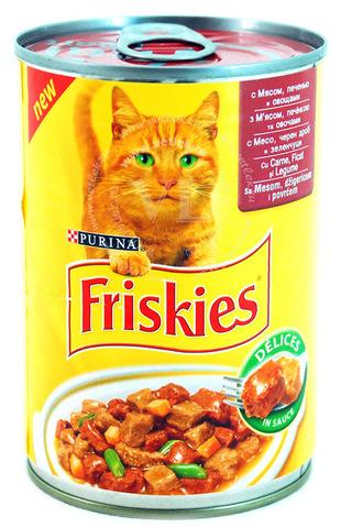 Friskies Консервы с мясом, печенью и овощами в соусе для кошек 400 г