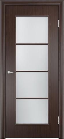 Дверь Верда C-8, цвет венге, остекленная