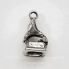 "Подвеска 3D ""Граммофон"" (цвет - античное серебро) 17х9 мм"