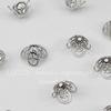 Шапочка - конус для бусины филигранный 8х6 мм (цвет - никель), 10 штук
