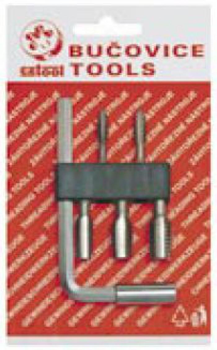 Набор метчиков-бит BIT2 M4-M10 HSS с Г-образной ручкой Bucovice 948210
