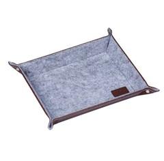 Настольная подставка для канцелярских принадлежностей, Lejoys, Felt, серая, 210*160*45 мм