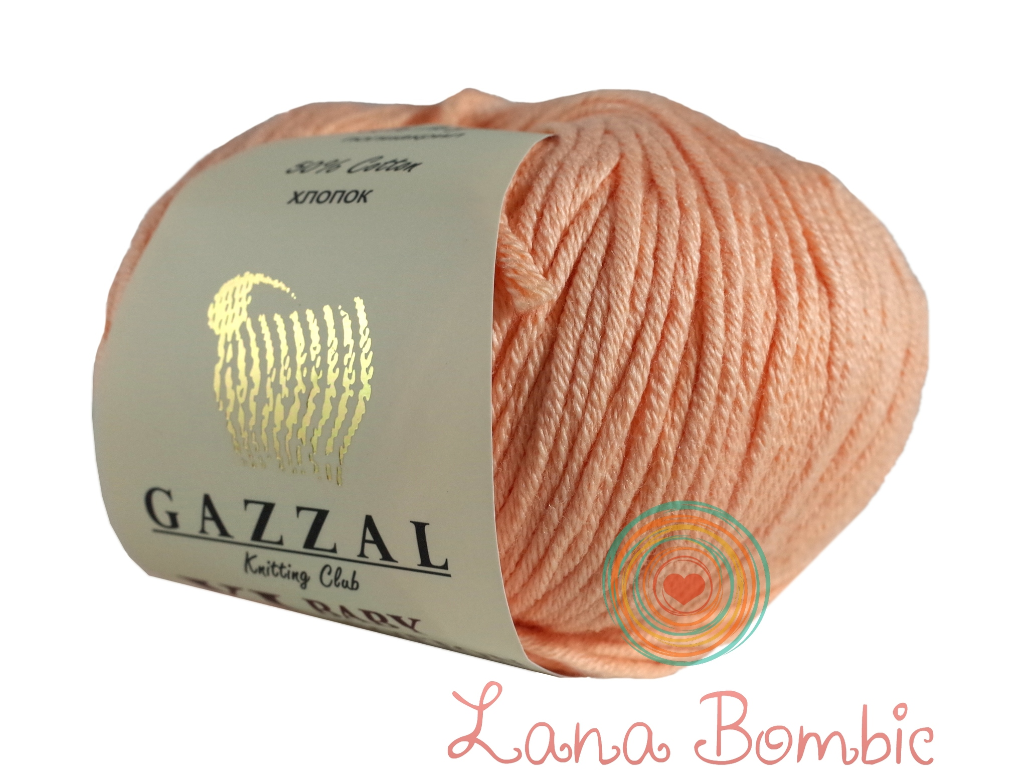 Пряжа Gazzal Baby Cotton XL персик 3412