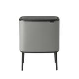 Мусорный бак Touch Bin Bo (11 л + 23 л), Минерально-серый, артикул 127243, производитель - Brabantia