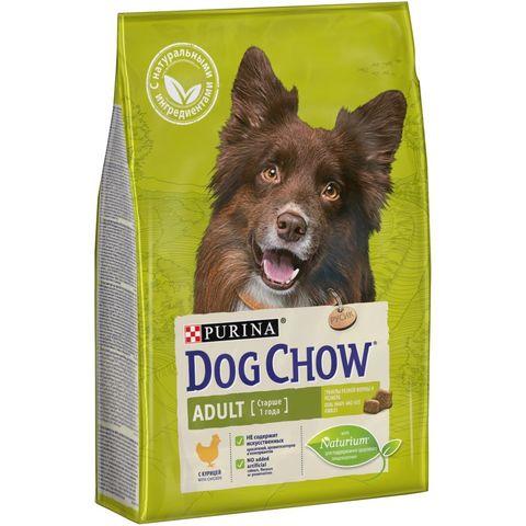 Purina Dog Chow сухой корм для взрослых собак (курица) 2,5 кг