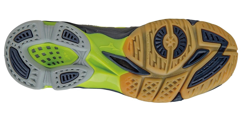 Мужские волейбольные кроссовки Mizuno Wave Lightning Z2 Mid желтые (V1GA1605 02) с высоким голеностопом фото