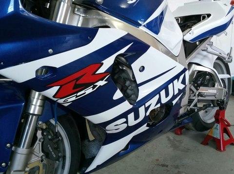 Набор наклеек Suzuki gsx-r  750 2002, (бело-синий пластик)