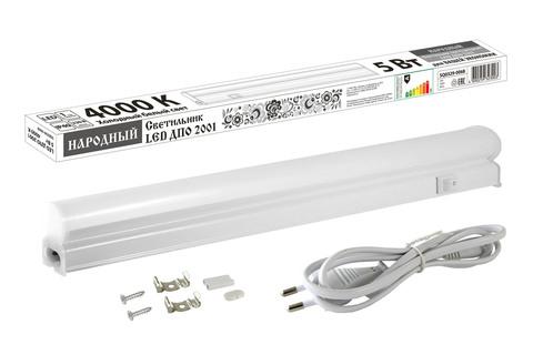 Светильник LED ДПО 2001 5 Вт, 4000К, IP40, Народный