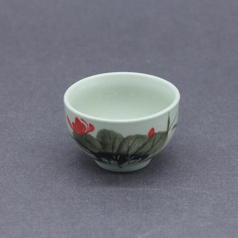 Чашка с лотосом, фарфор, 50мл
