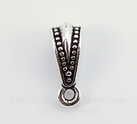 "Бейл TierraCast ""Королевский"" 13х5 мм (цвет-античное серебро)"