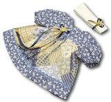 Платье печворк - Голубой / бежевый. Одежда для кукол, пупсов и мягких игрушек.