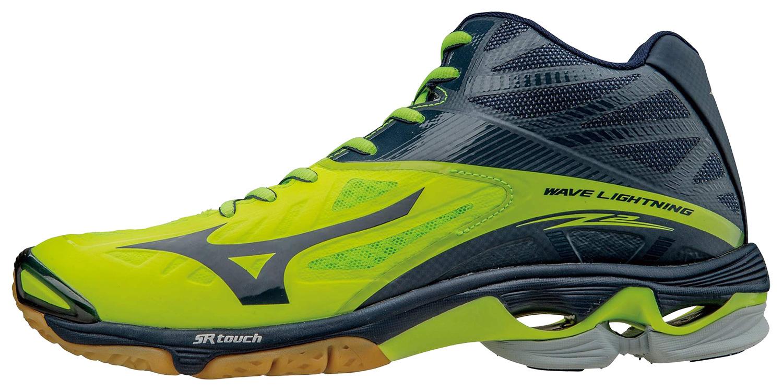 Мужские волейбольные кроссовки Mizuno Wave Lightning Z2 Mid желтые (V1GA1605 02) фото