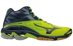 Мужские волейбольные кроссовки Mizuno Wave Lightning Z2 Mid желтые (V1GA1605 02) с высоким голеностопом