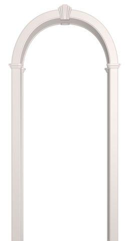 Арка межкомнатная ПВХ Лесма, Романская, цвет белая эмаль