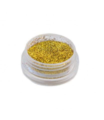 Блестки 3 гр+ баночка золотые