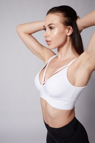 Топ Light Bra White