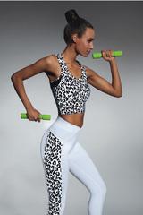Топ-майка для фитнеса леопардовая
