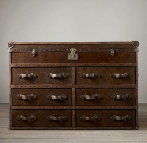 Mayfair Steamer Trunk Double Chest - Vintage Cigar