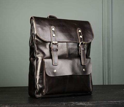 Кожаный мужской городской рюкзак