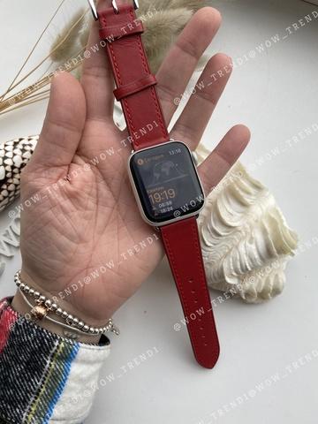 Ремешок Apple watch 38mm Leather Сlassic /red/