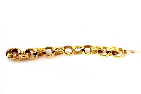 Стильный браслет-цепь с рисунком в виде фирменной прострочки Chanel