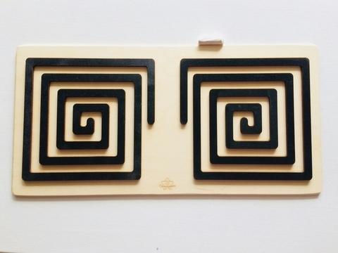Трафареты графомоторные Квадрат, для одновременного рисования двумя руками, Сенсорика