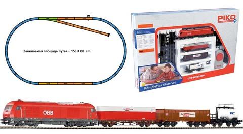 PIKO 96948 Стартовый набор модельной железной дороги «Rail Cargo Austria OBB», НО