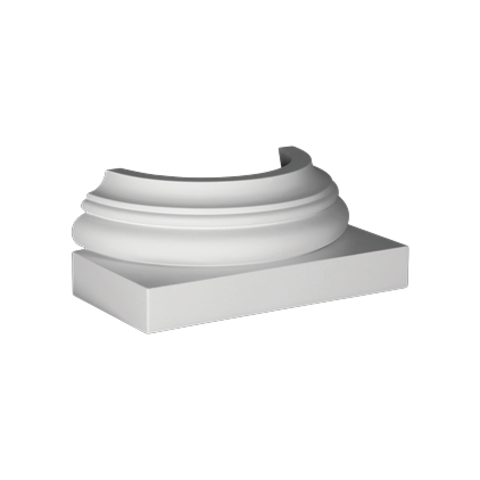 База (полуколонна) Европласт из полиуретана 4.47.101, интернет магазин Волео