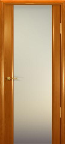 Дверь Океан Шторм-3, стекло белое, цвет анегри, остекленная