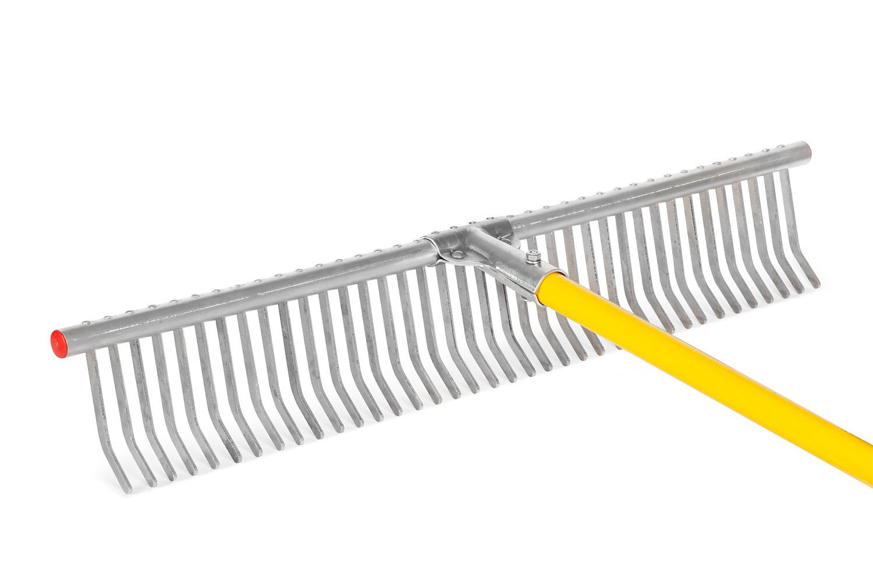 Грабли для газона алюминиевые Offner 38 зуб, 71 см