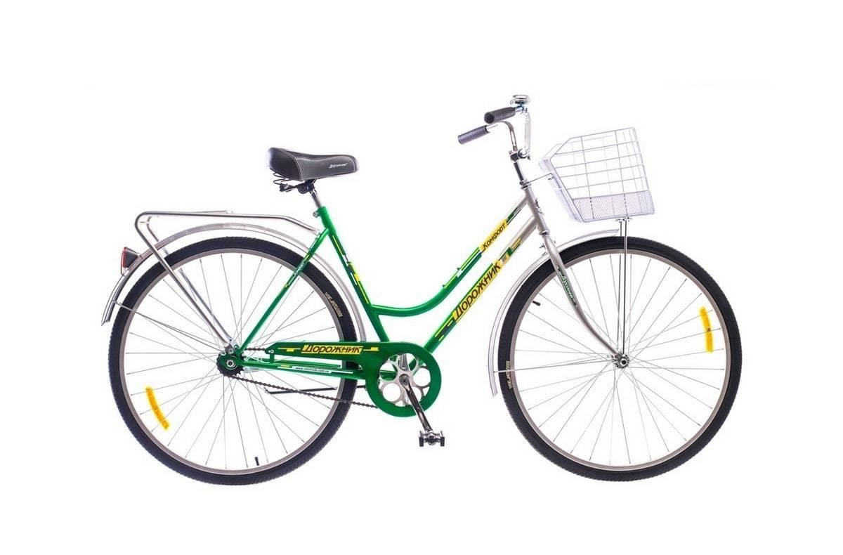 Городской универсальный велосипед для мужчин и женщин Дорожник Комфорт 2015 (зелено-серый)