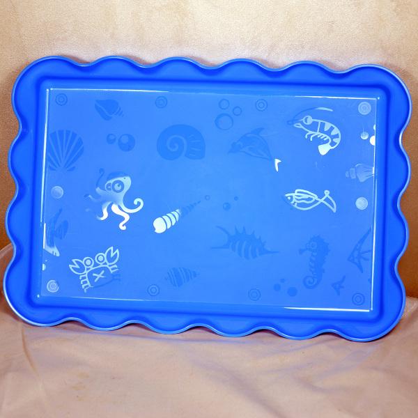 """Песочница """"Море"""" для кинетического песка - синяя."""