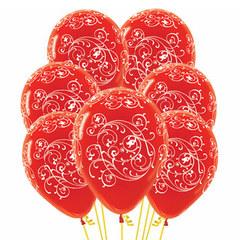 Букет из Воздушных шаров с Узором