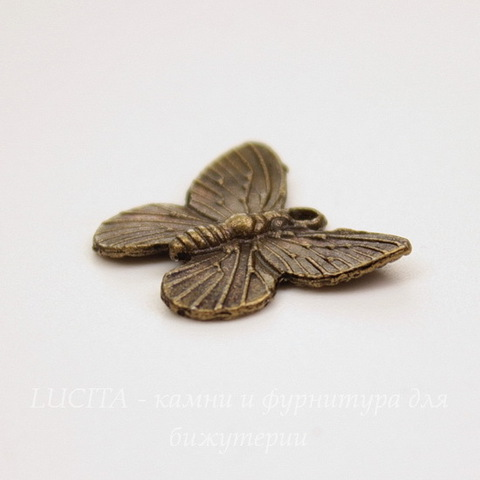 "Подвеска ""Бабочка"" 18х15 мм (цвет - античная бронза)"