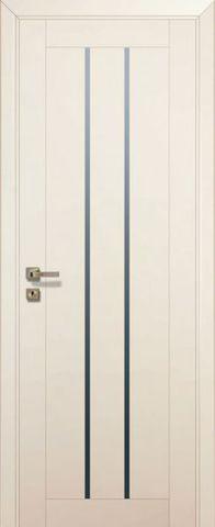 Дверь Profil Doors № 49 U, стекло графит, цвет магнолия сатинат, остекленная