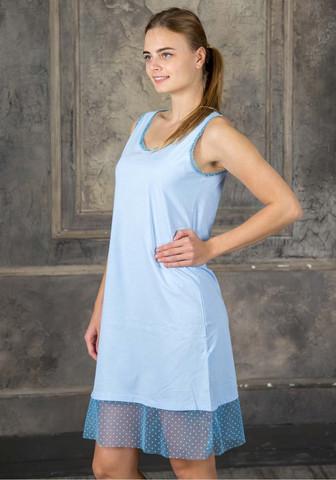 Легкая ночная рубашка без рукавов