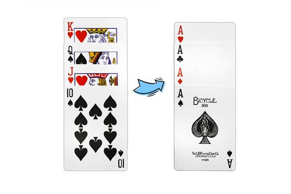 """Карточный набор """"Старшие карты в тузы"""""""