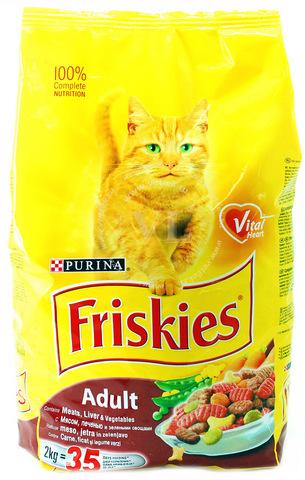 Friskies С мясом, печенью и овощами для кошек 400 г