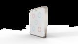 Выключатель пятиканальный Heltun (Белая панель, Серебристая рамка)