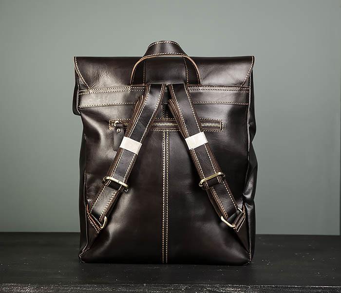 BAG470-2 Кожаный мужской городской рюкзак фото 05