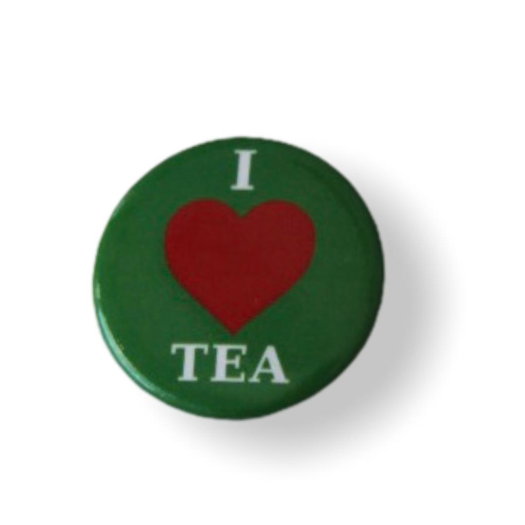 Значок I love tea