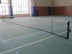 Комплект теннисный (стойки для большого тенниса, сетка, подставки)