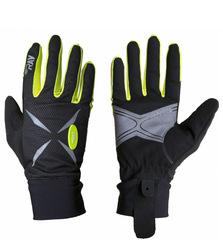 Перчатки Ray Анатомик черный-жёлтый